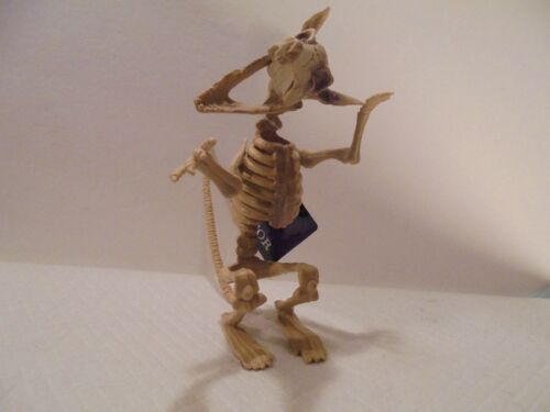 """7 1//2/"""" Tall Fossil Rat Skeleton Halloween Haunted House Prop Comical Poseable"""