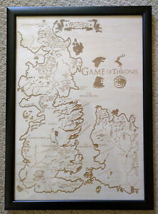 Details About Wooden Westeros Map Laser Engraved Game Of Thrones Map