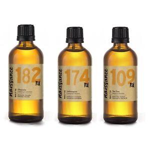 Naissance-Citronella-Lemongrass-amp-Tea-Tree-Trio-Set-Essential-Oil-3-x-100ml
