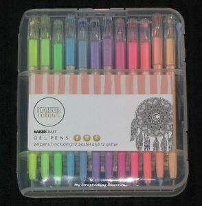 Image is loading Kaisercraft-039-KAISERCOLOUR-GEL-PENS-039-x24-12-