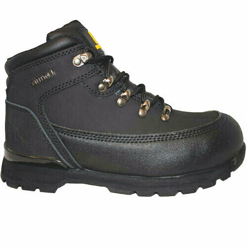 LADIES MENS  lightweight LEATHER  SAFETY STEEL TOE CAP WORK TRAINER SHOE BOOTS.