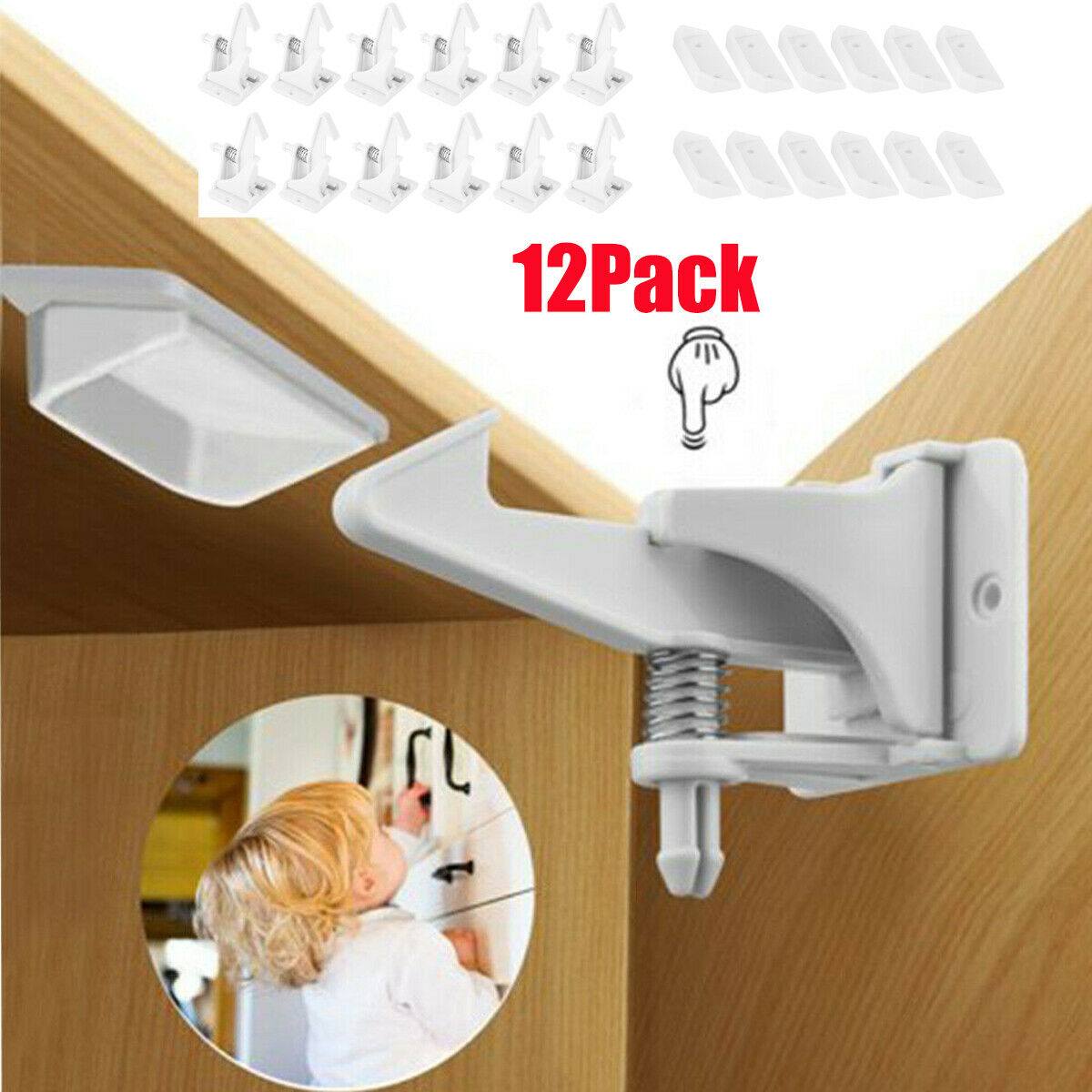 Homemaxs 12pcs Magnetic Cabinet Drawer Cupboard Locks For Baby Safety Child For Sale Online Ebay