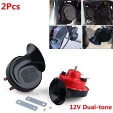 2pcs 12v 105 Db Loud Dual Tone Snail Electric Air Horn For Car Truck Universal