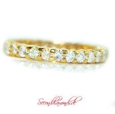 1,12 ct Memory Brillantring Größe 50 rundum Allianz Diamond Ring 750 Gold