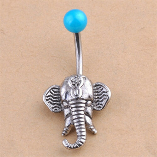 New Elephant Navel Belly Button Rings Steel Belly Bars Piercing Body Jewelry  LU