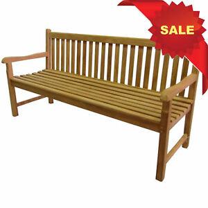 Details About Kyoto Premium Teak 3 Seater 180cm Garden Bench Wooden Seat Furniture Memorial