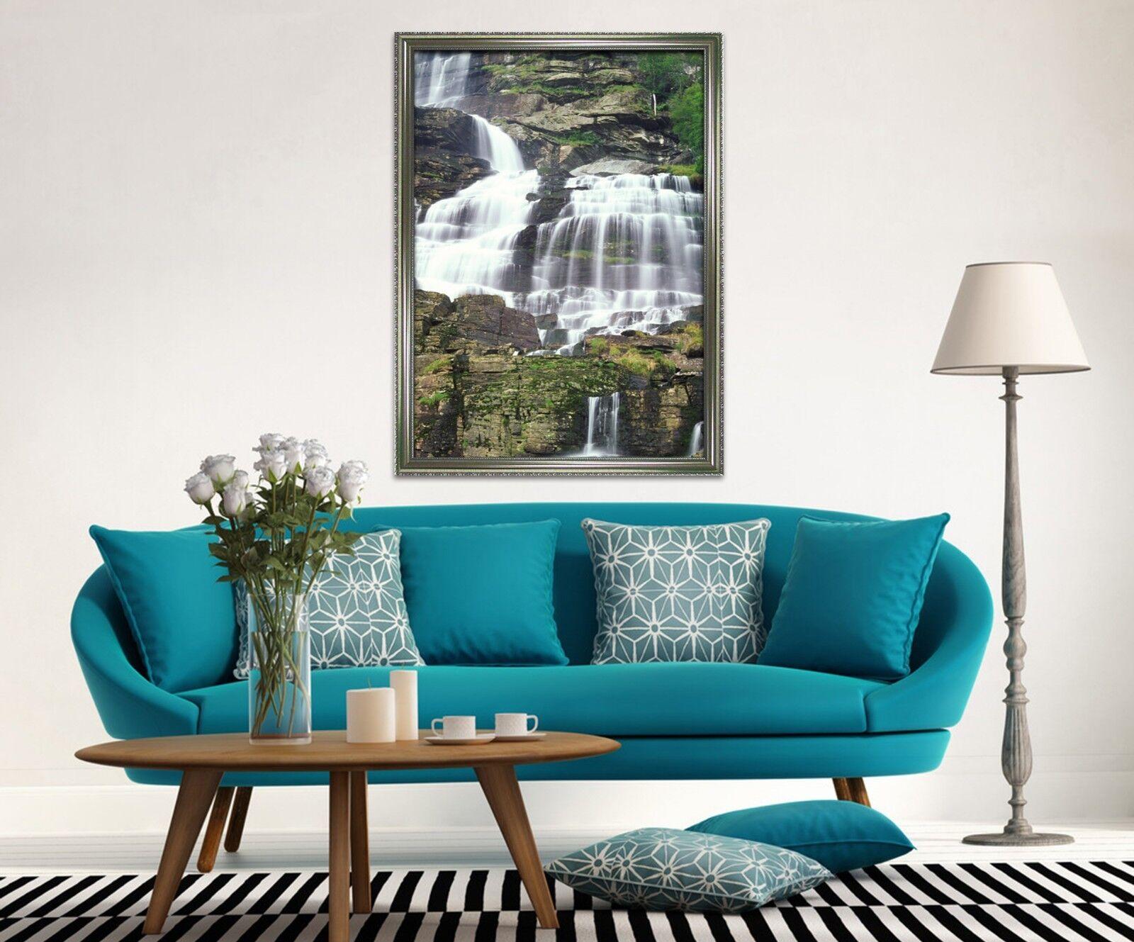 3D  Weiß Waterfall 33 Framed Poster Home Decor Print Painting Art AJ WALLPAPER
