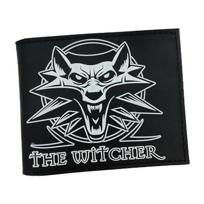 Mens Brown Logo Wallet man wallet cardhold The Witcher 3 Wild Hunt Wolf Wallet