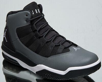 Jordan Max Aura Homme Gris Fumée Blanc Noir Basket Baskets Chaussures Athlétisme | eBay