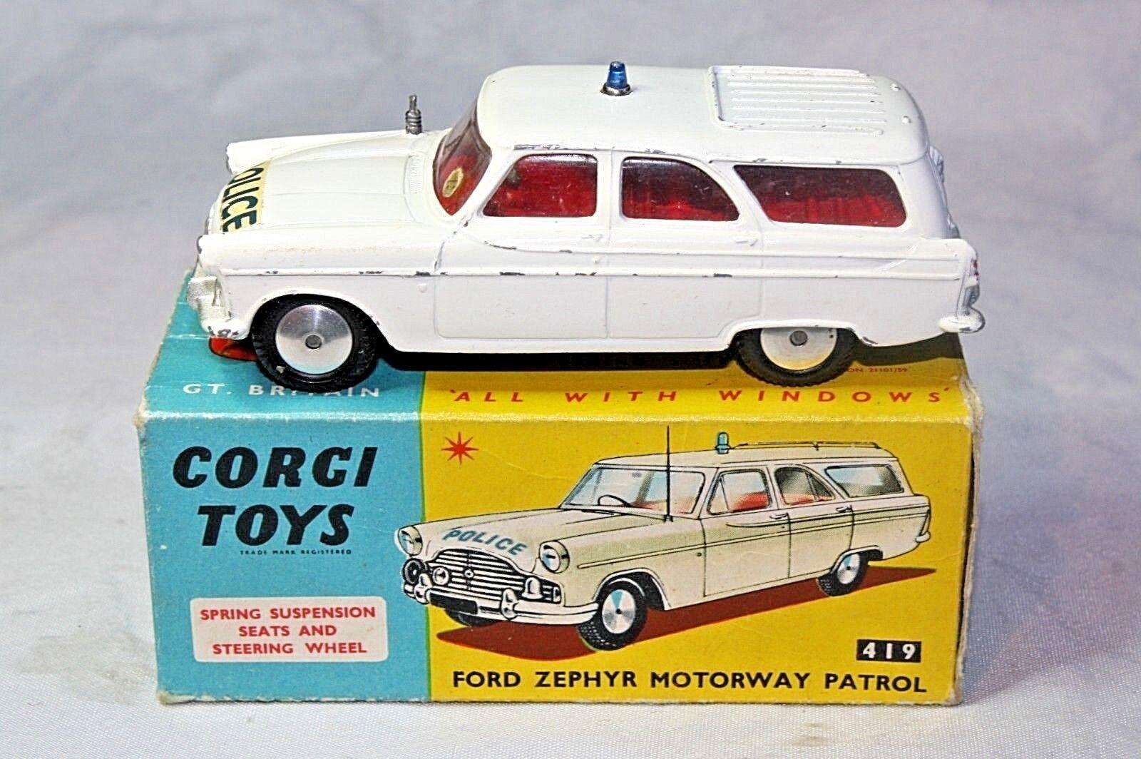 CORGI 419 Ford Zephyr Polizia, ottime condizioni nella scatola originale