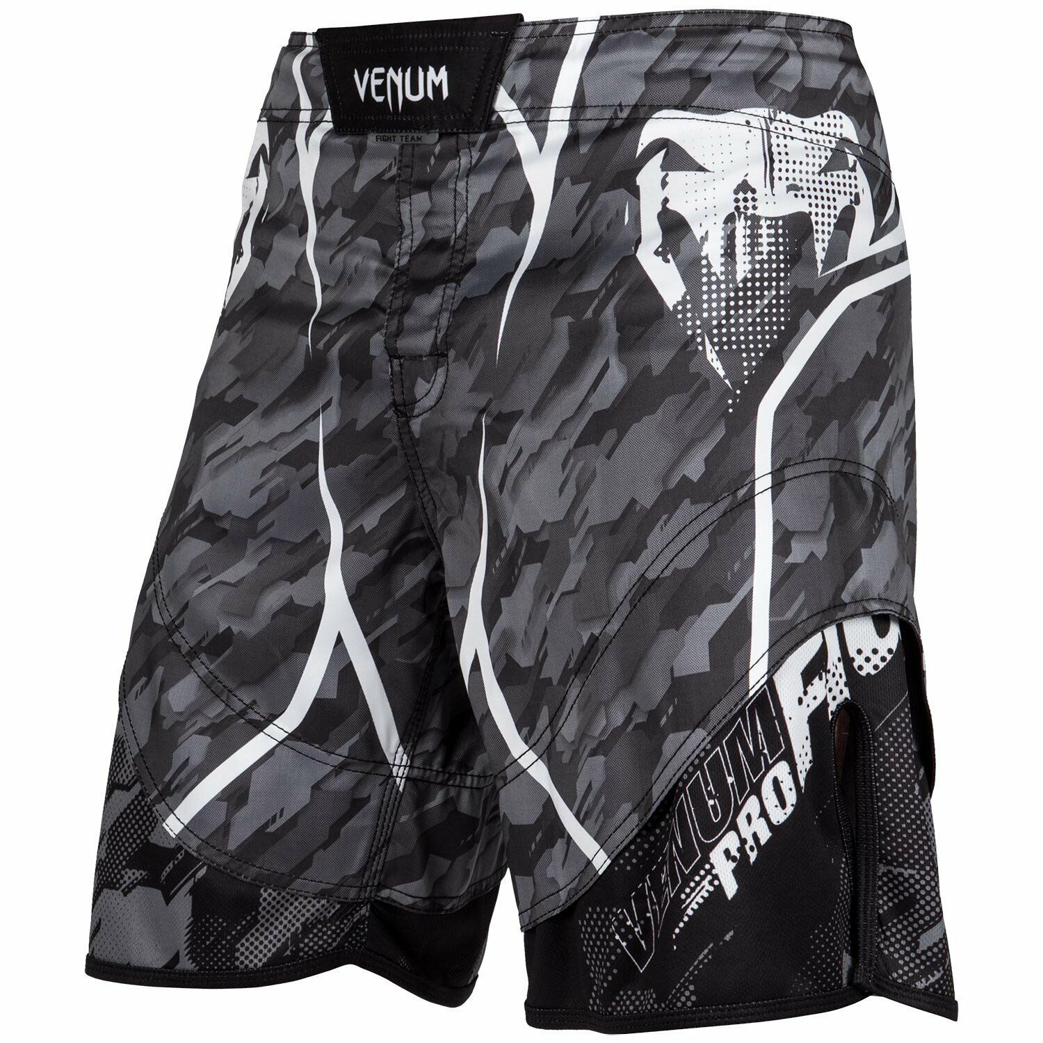 Venum Mens Tecmo MMA Fight Shorts Grey Mix Martial Arts Training Cage UFC Gym