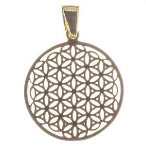 Blume-des-Lebens-Anhanger-2-4-cm-925-Silber-vergoldet-Esoterik-Bella-Carina