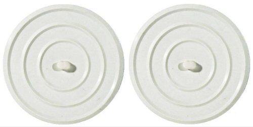 2 BOUCHON D/'EVIER LAVABO UNIVERSEL PVC BLANC 9 CM DIAMETRE MENAGE ENTRETIEN
