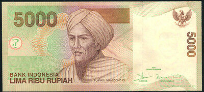 Asia Constructive Indonesia 5000 Rupiah 2001/2005 P 142e Uncirculated Banknotes