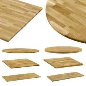 Vidaxl Solid Oak Wood Table Top
