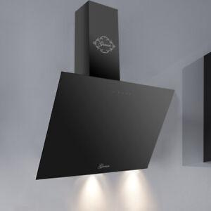 Gurari Designerhaube Dunstabzugshaube 90cm 1000m³//h Wandhaube Abzugshaube Black