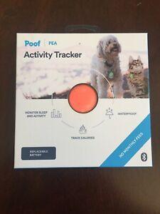 Poof-Pea-Activity-Tracker-Pink-Cat-Dog-Monitors-Sleep-amp-Activity-Brand-New