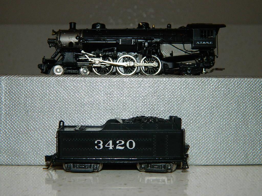 Sello de latón Modelos Escala N-Usra 4-6-2, Atsf con letras 3420, Nuevo En Caja Vintage, C-10