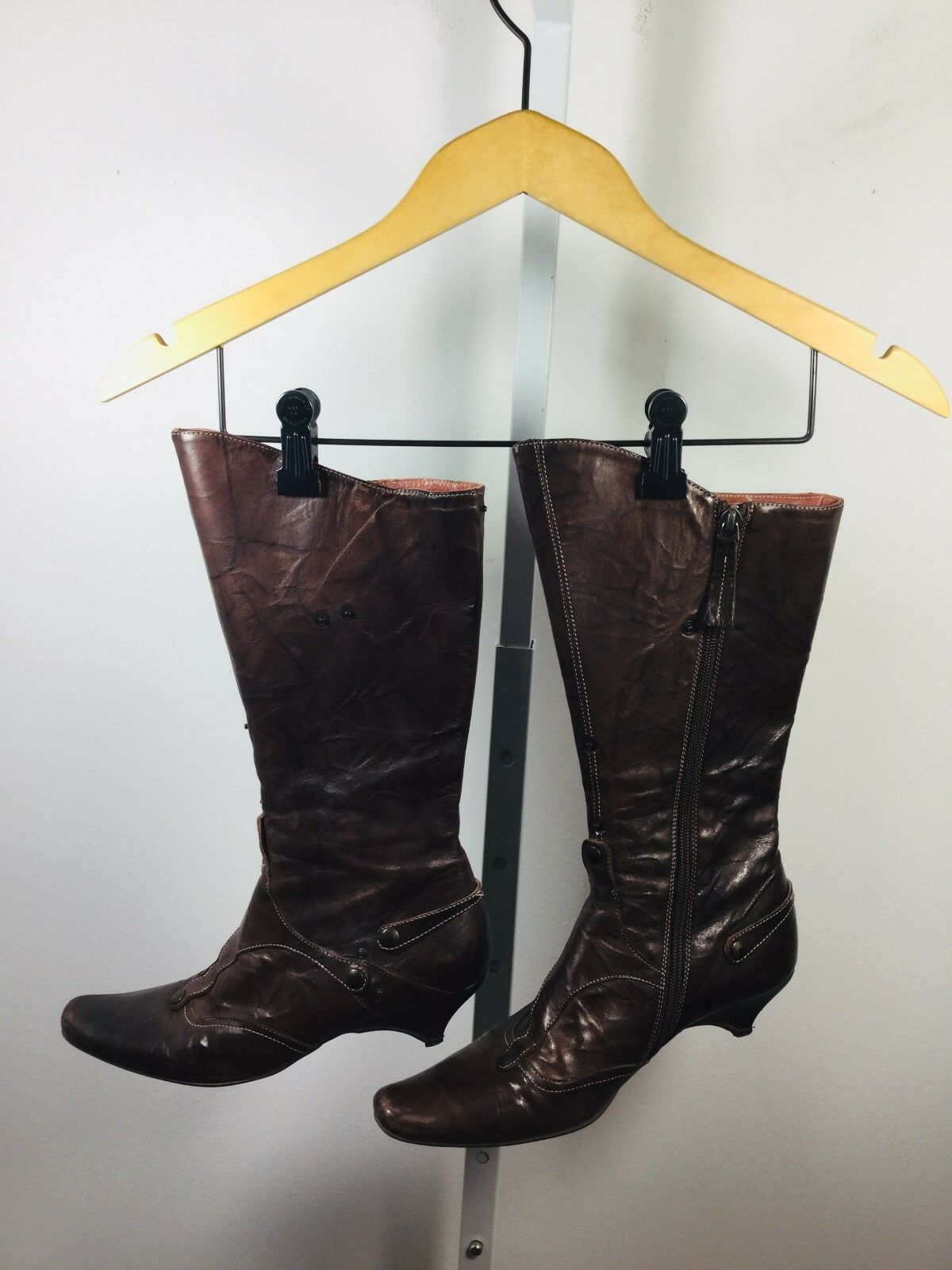 GOFFrotO FANTINI braun Leather Größe 37    Celia  Snap Stiefel  495 dce4c3