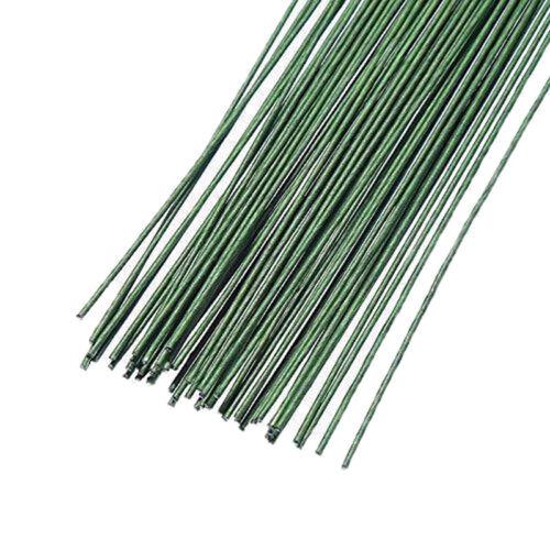 12Pcs Green Floral Tape Iron Wire Artificial Flower Stub Stem DIY Decor 60cm CA