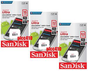 Sandisk-Ultra-16GB-32GB-64GB-128GB-80MB-s-Micro-SD-SDHC-SDXC-Class-10-Phone-AU