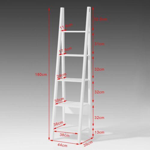 Étagère style échelle Bibliothèque-5 étages,Blanc FRG101-W FR SoBuy® Nouveauté