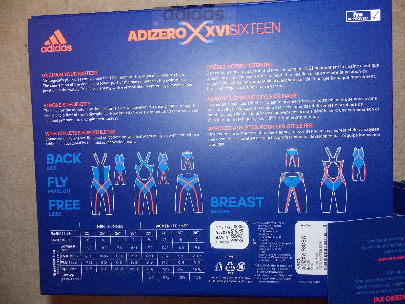 ADIDAS ADIZERO DAMEN Adizero XVI FSOBW AJ7075 Schwimmanzug Fina Swimmsuit Gr. 32