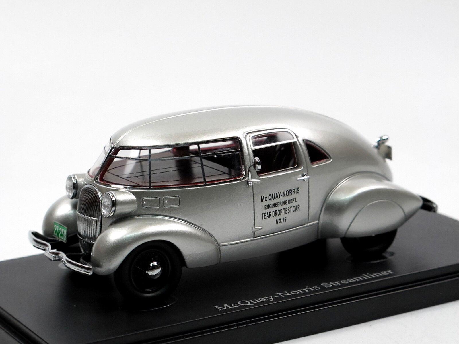 Autocult 04007 1934 McQUAY-NORRIS Streamliner Aluminium Egg 1 43 TEST CAR