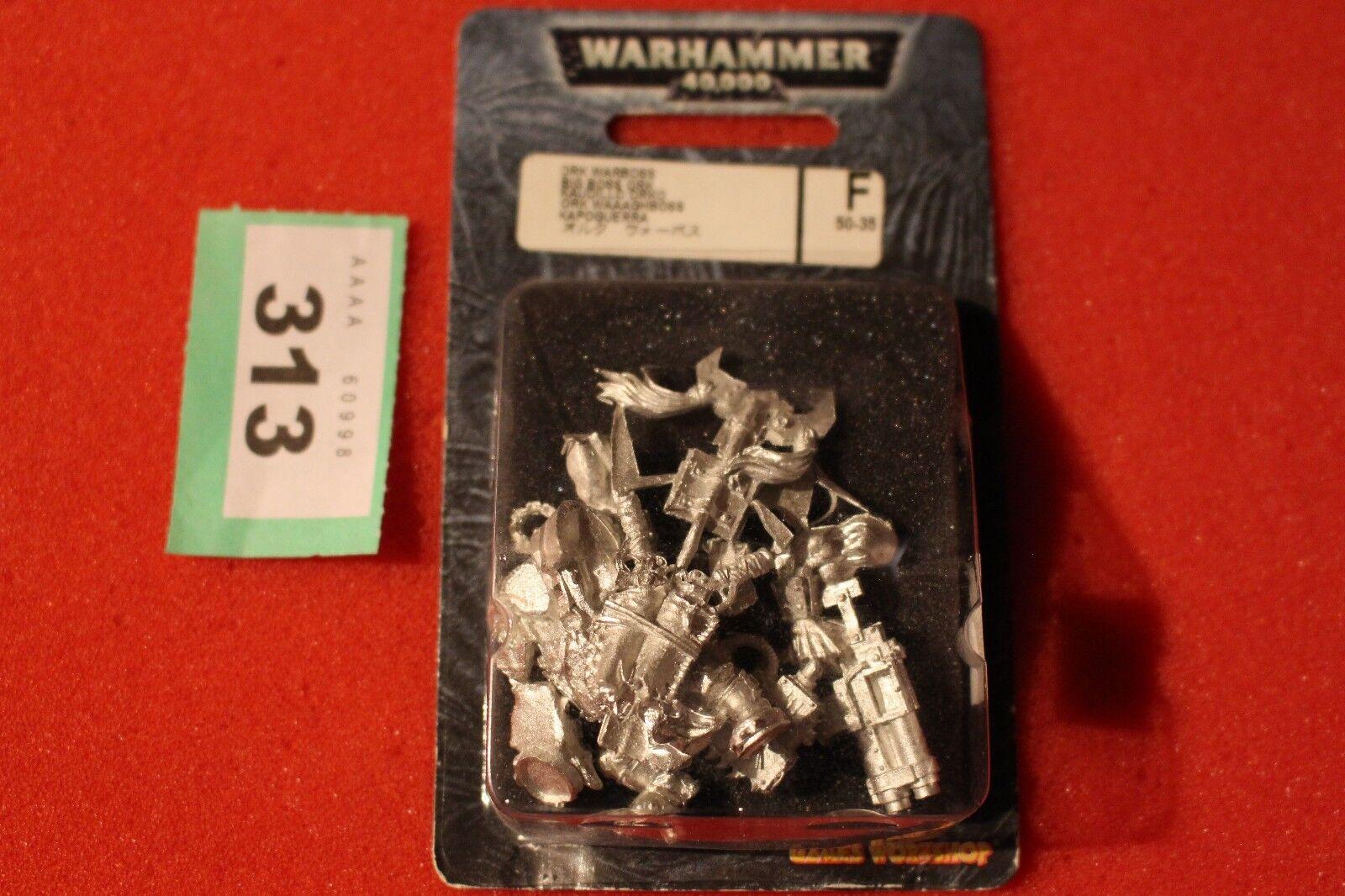 Games Workshop Warhammer 40k Orks Warboss with Big Choppa Metal BNIB New WH40K