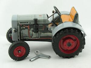 Vereinigt Blechspielzeug Traktor Lanz D 2816 Tiere Figuren