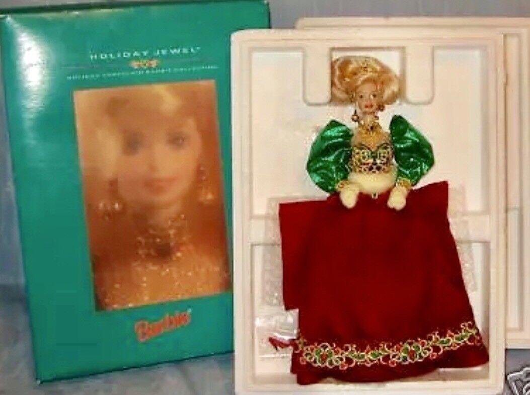 1995 Holiday Jewel Porcelain  Barbie MIB