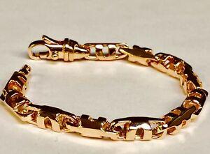 14k-Solid-Rose-Gold-Men-039-s-Anchor-Mariner-Link-Chain-Bracelet-6-MM-8-034-25-grams