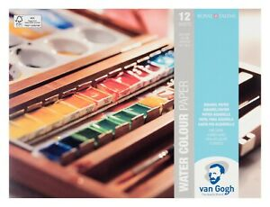 Royal Talens Van Gogh Watercolour Painting Paper Block 18 x 24cm (12 Sheets)