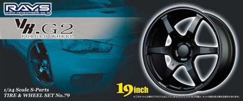 19 Zoll RAYS VR-G2 Forged Wheel Felgen /& Reifen 1:24 Model Kit Aoshima 049532