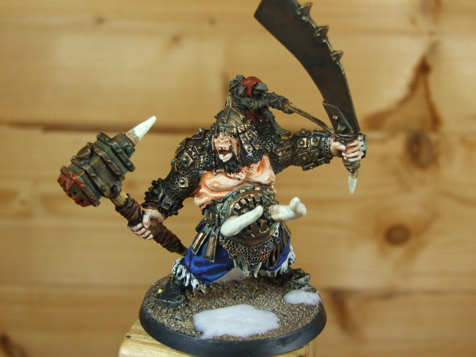 CLASSIC METAL WARHAMMER OGRE OGORS TYRANT WELL PAINTED (L)