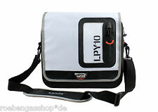 LAPLAYA MESSENGER BAG 10 LITER BLACK/WHITE DRY GEAR WASSERDICHT