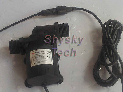 12V Micro Brushless DC Water Pump Solar circulation pump 5M 600LPH Low noise
