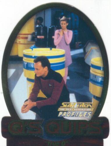 Star Trek TNG Profiles Qs Quips Chase Card Q6