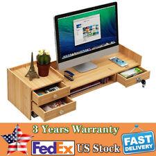 New Office Wood Desk Organizers File Storage Computer Desktop Tray Diy With Lock