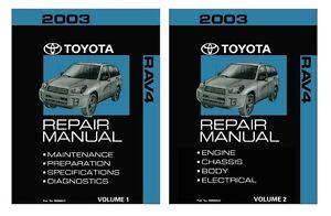 2003 toyota rav4 shop service repair manual book engine drivetrain oem ebay 2004 toyota rav4 repair manual pdf 2003 toyota rav4 repair manual download