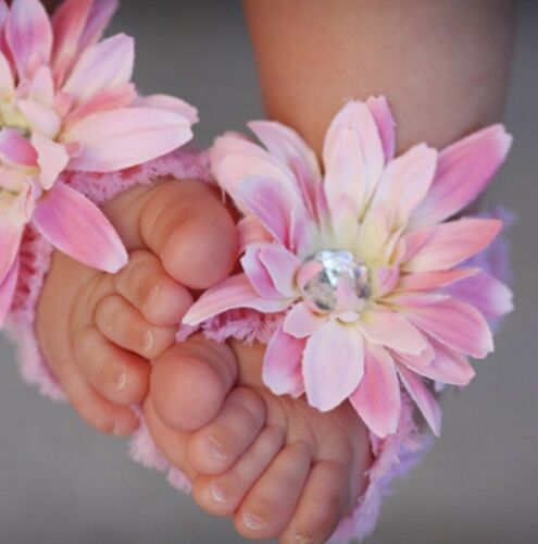 flower sandal Sold Out Toeblooms Sweetheart Barefoot Baby Shoe