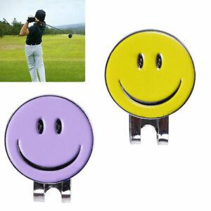 Smile-Face-Magnetic-Clip-Golf-Ball-Marker-Clip-On-Golf-Cap-Visor-Hat-Z5B3