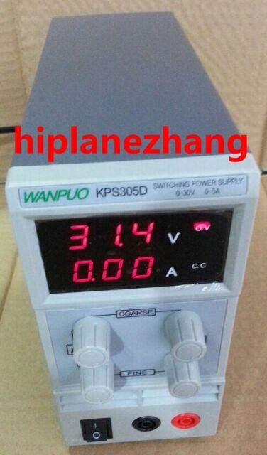 Adjustable Variable Mini DC Power Supply Output 0-30V 0-5A AC110-220V KPS305D