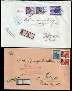 Böhmen u. Mähren , 8 R-Briefe Einschreiben