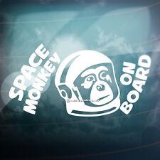 SPACE MONKEY ON BOARD Funny Car,Bumper,Window JDM DUB EURO Vinyl Decal Sticker