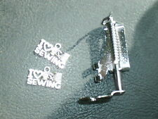 Singer White machine embroidering quilting darning foot & I love sewing charm