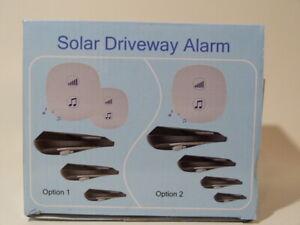 NIB Indoors/ Outdoors Solar Motion Sensor wireless  Alarm  lights Weatherproof