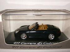 PORSCHE 911 CARRERA 4S CABRIOLET CAB NOIRE BLACK MINICHAMPS 1/43