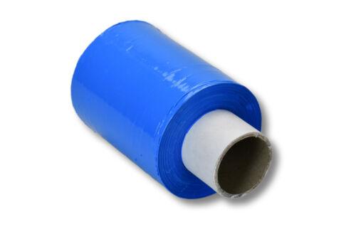 blau 23my 100mm x 150m 1 Rolle Mini Stretchfolie Farbe EUR 0,03 // m