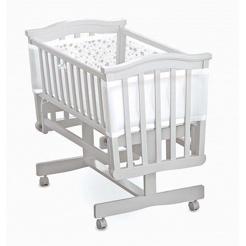 Cotbed Liner Bumper 4 Sided Crib Cot Breathable Baby Airflow Mesh Baby 2
